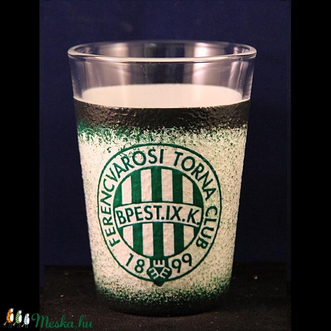 FTC emblémás  kicsi vizes pohár ( 0,2 l )   - Ideális foci rajongóknak ( férfiaknak-férjeknek-barátoknak )  (decorfantasy) - Meska.hu