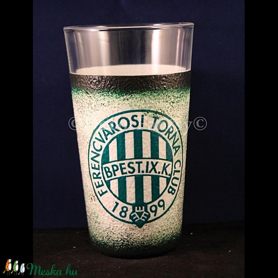 FTC emblémás  nagy  vizes pohár ( 0,3 l )   - Ideális foci rajongóknak ( férfiaknak-férjeknek-barátoknak )  (decorfantasy) - Meska.hu