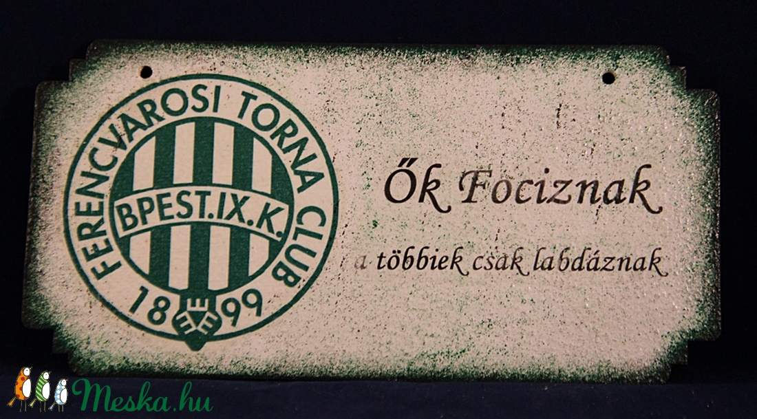 FTC emblémás fatábla - FTC futball szurkolóknak (decorfantasy) - Meska.hu