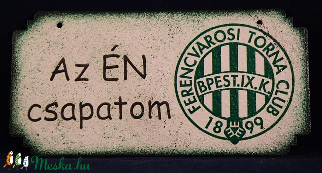 FTC emblémás fatábla ; FTC futball szurkolóknak (decorfantasy) - Meska.hu
