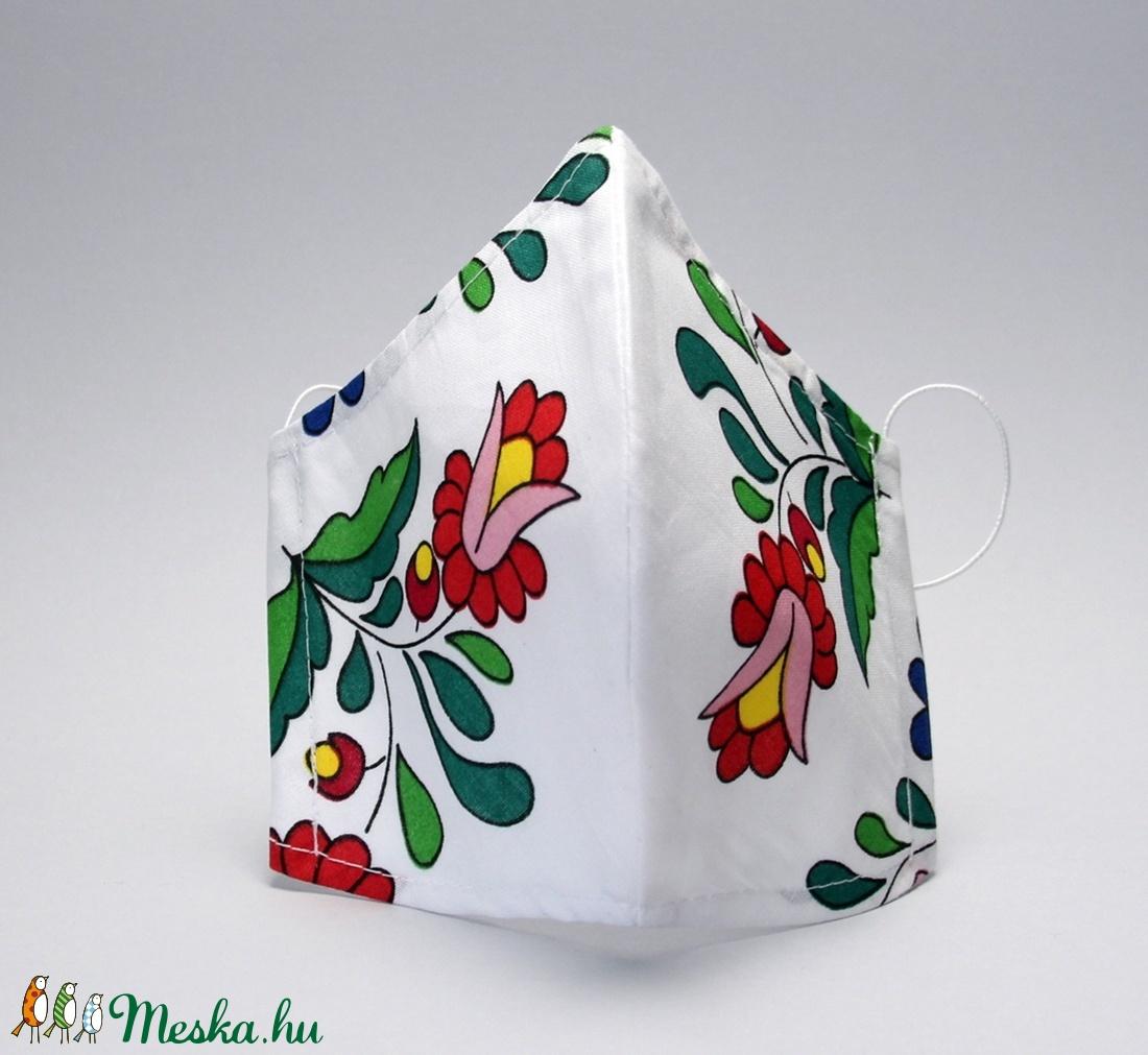 Kalocsai mintás egyedi szájmaszk -pamut szájmaszk - egészségügyi mosható szájmaszk-gyermek-felnőtt  - maszk, arcmaszk - gyerek - Meska.hu