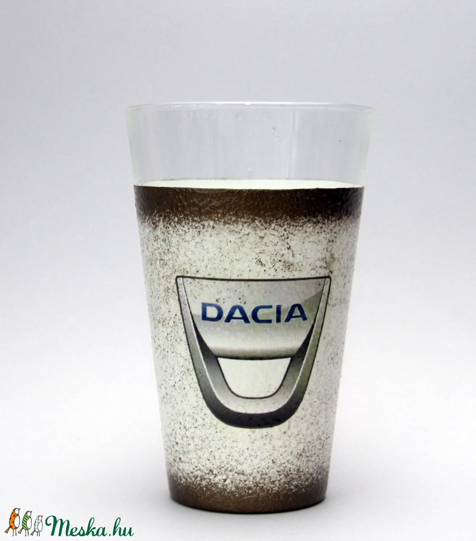 Dacia vizes pohár ; ideális ajándék  - Meska.hu