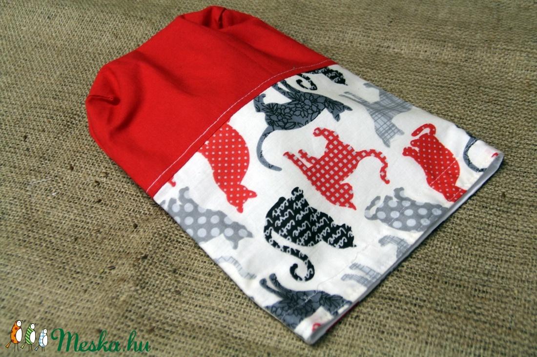 Cicás piros-fehér uzsonnás zsák (20x25cm)-ÖKO környezetbarát anyagból óvodásoknak,iskolásoknak,-INGYENES SZÁLLÍTÁSSAL - táska & tok - bevásárlás & shopper táska - shopper, textiltáska, szatyor - Meska.hu