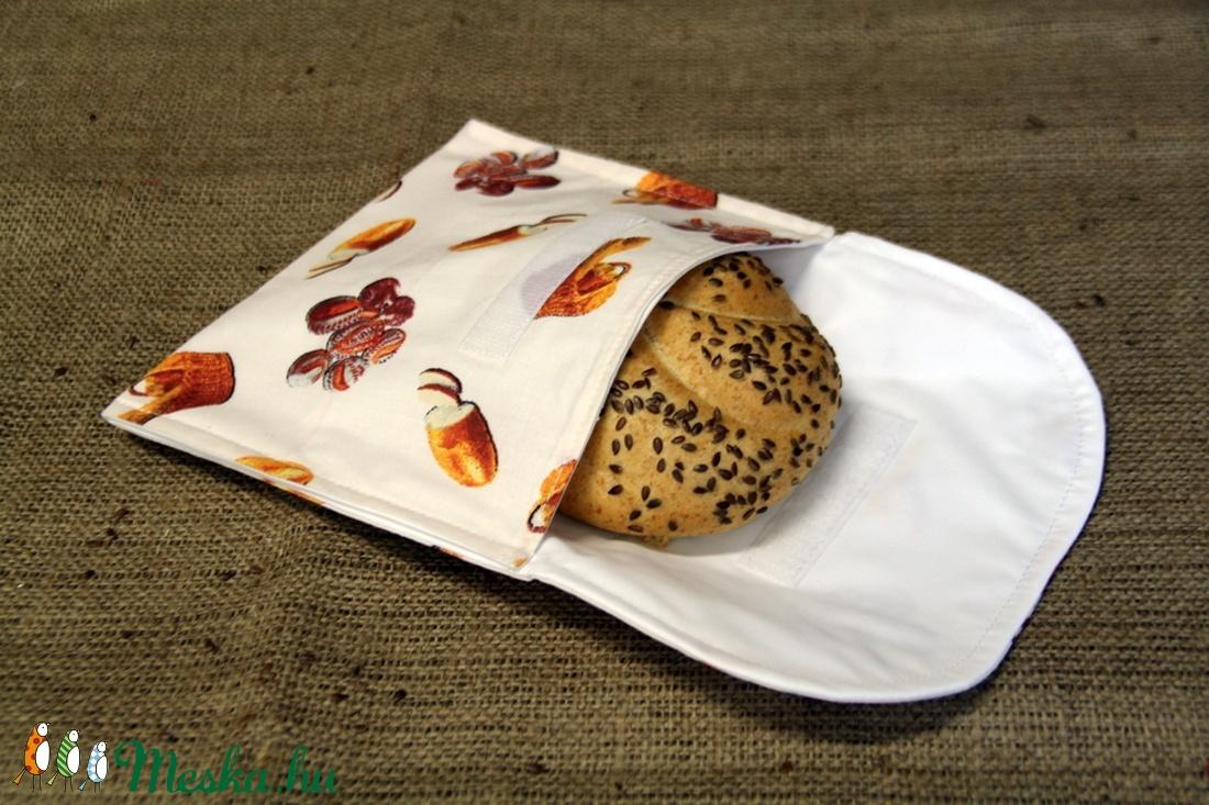 Pékárus szendvicstartó,nasitasi (20x18cm)-ÖKO környezetbarát anyagból óvodásoknak,iskolásoknak,-INGYENES SZÁLLÍTÁSSAL - táska & tok - Meska.hu