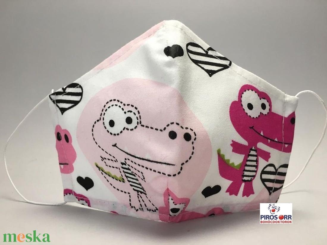 EGYEDI KROKODILOS SZÁJMASZK -Textil szájmaszk-Egészségügyi szájmaszk -Felnőtteknek ,gyerekeknek - - Meska.hu