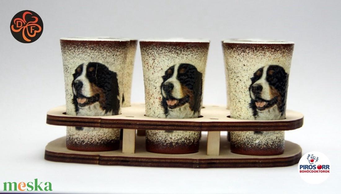 Kutya motívummal ( berni pásztor )  pohár szett ; Házi kedvenc rajongóknak ;Egyedi állat fotóval is ! - Meska.hu