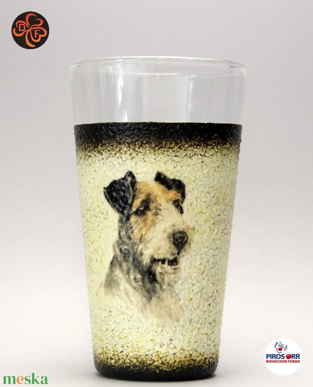 Kutya motívummal ( foxi) vizes pohár ; Házi kedvenc rajongóknak ;Egyedi állat fotóval is ! - Meska.hu