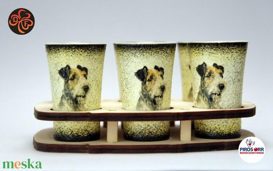 Kutya motívummal (foxi)  pohár szett ; Házi kedvenc rajongóknak ;Egyedi állat fotóval is ! - Meska.hu
