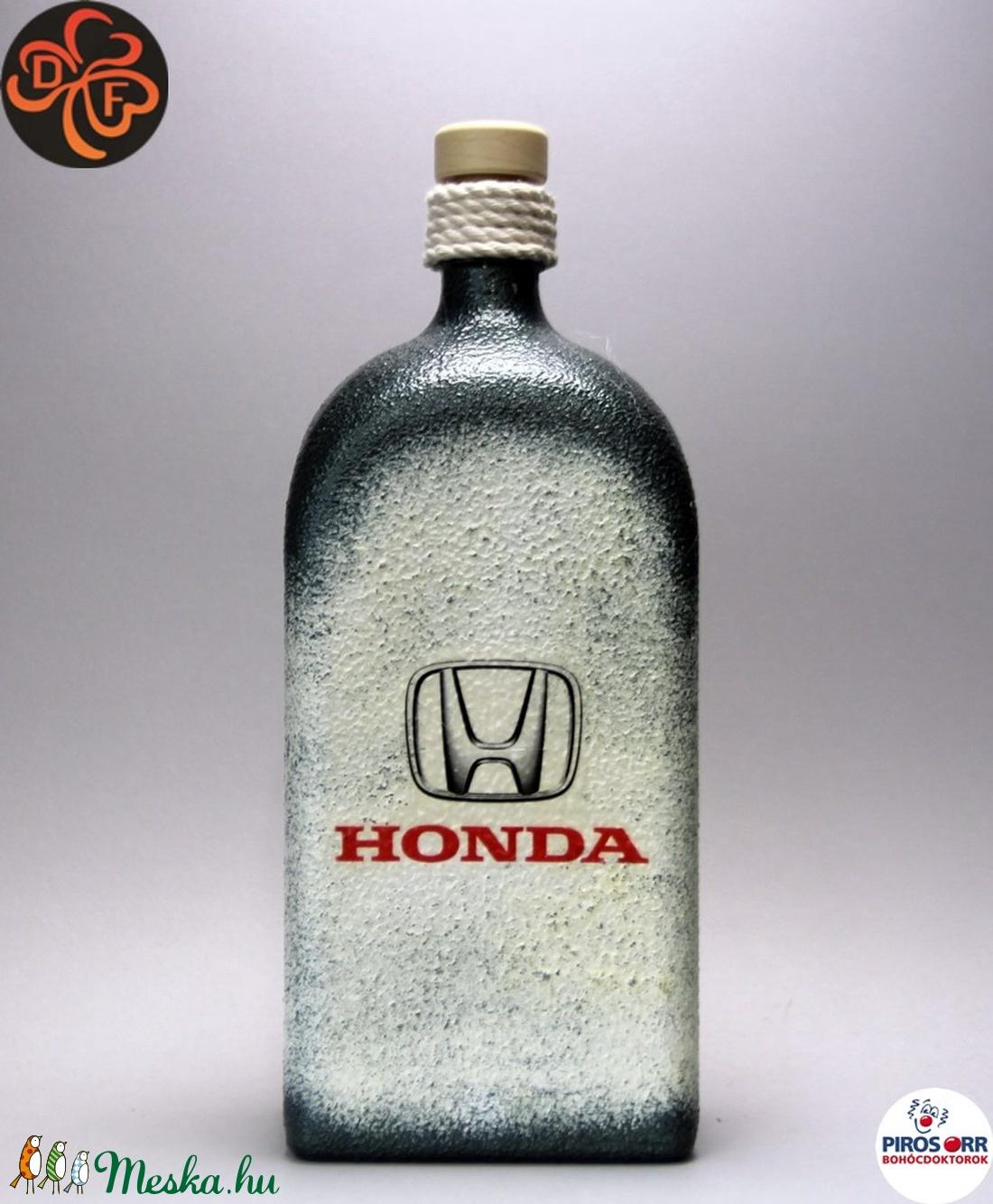 HONDA  pálinkás üveg  ; Saját Honda autód fotójával is elkészítjük ! (decorfantasy) - Meska.hu