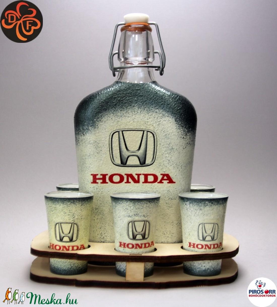 HONDA pálinkás szett  ;Saját Honda autód fotójával is elkészítjük ! (decorfantasy) - Meska.hu