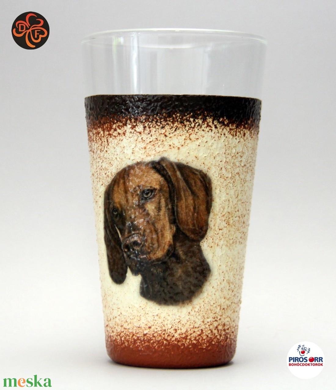 Kutya motívummal ( magyar vizsla) vizes pohár ; Házi kedvenc rajongóknak ;Egyedi állat fotóval is ! (decorfantasy) - Meska.hu