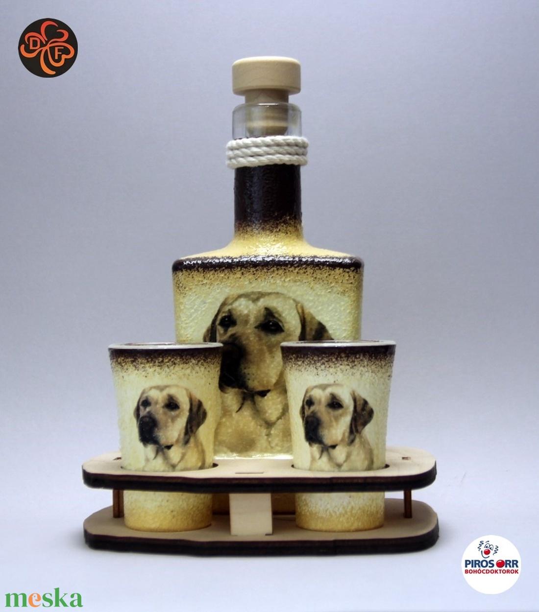 Kutya motívummal (  labrador ) díszített kis pálinkás szett ; Házi kedvenc rajongóknak ;Egyedi állat fotóval is ! (decorfantasy) - Meska.hu
