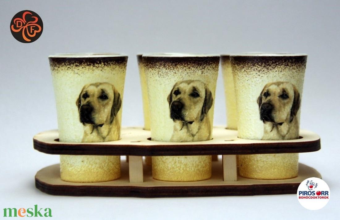 Kutya motívummal ( labrador)  pohár szett ; Házi kedvenc rajongóknak ;Egyedi állat fotóval is ! (decorfantasy) - Meska.hu