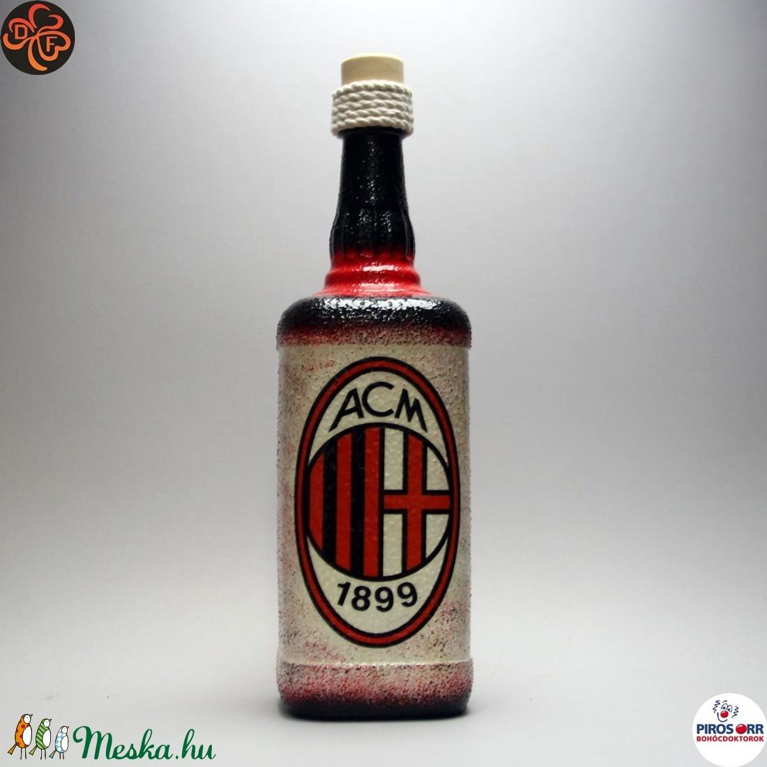 AC MILAN pálinkás üveg ; futball szurkolóknak (decorfantasy) - Meska.hu