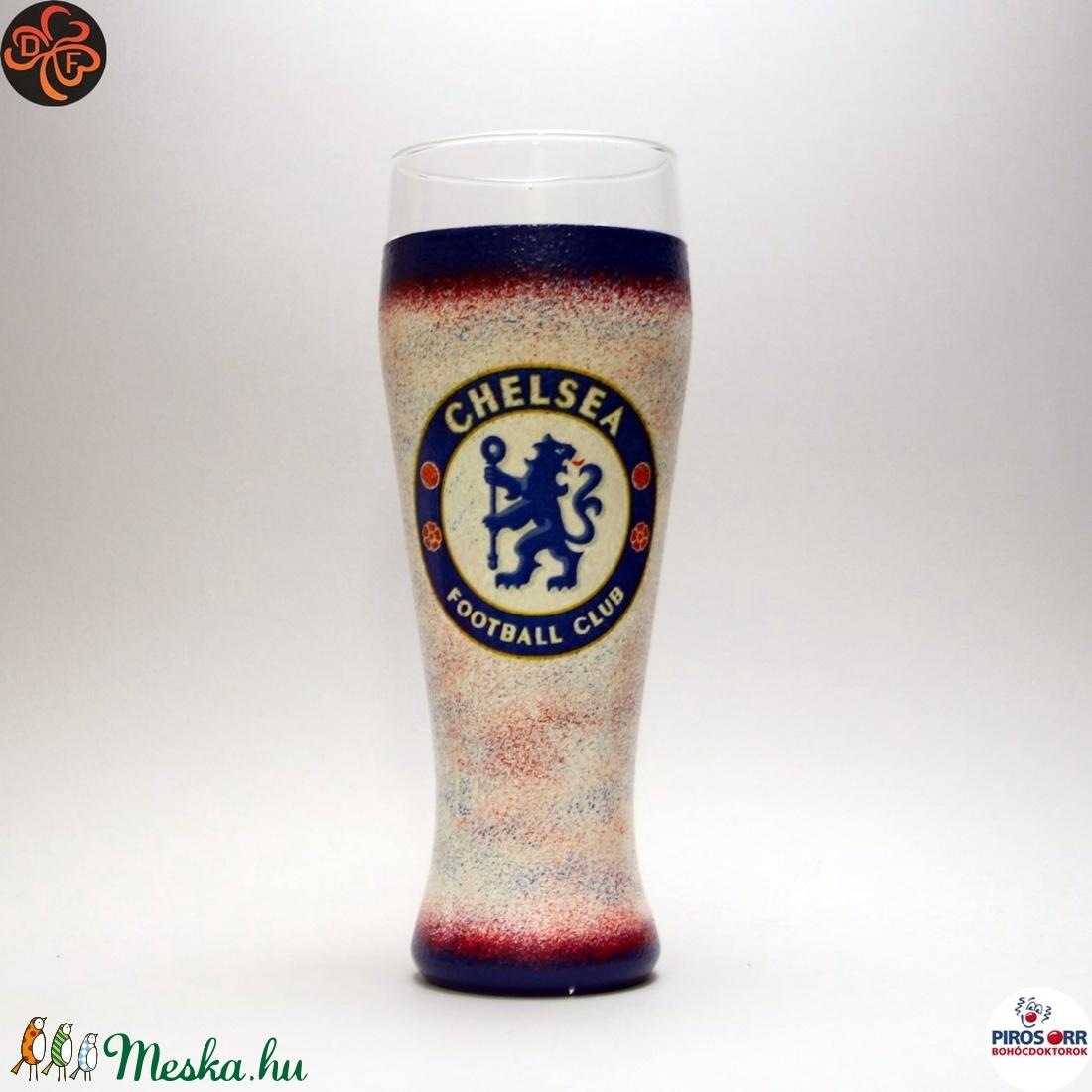 Chelsea FC sörös pohár ; Szurkolói ajándék (decorfantasy) - Meska.hu