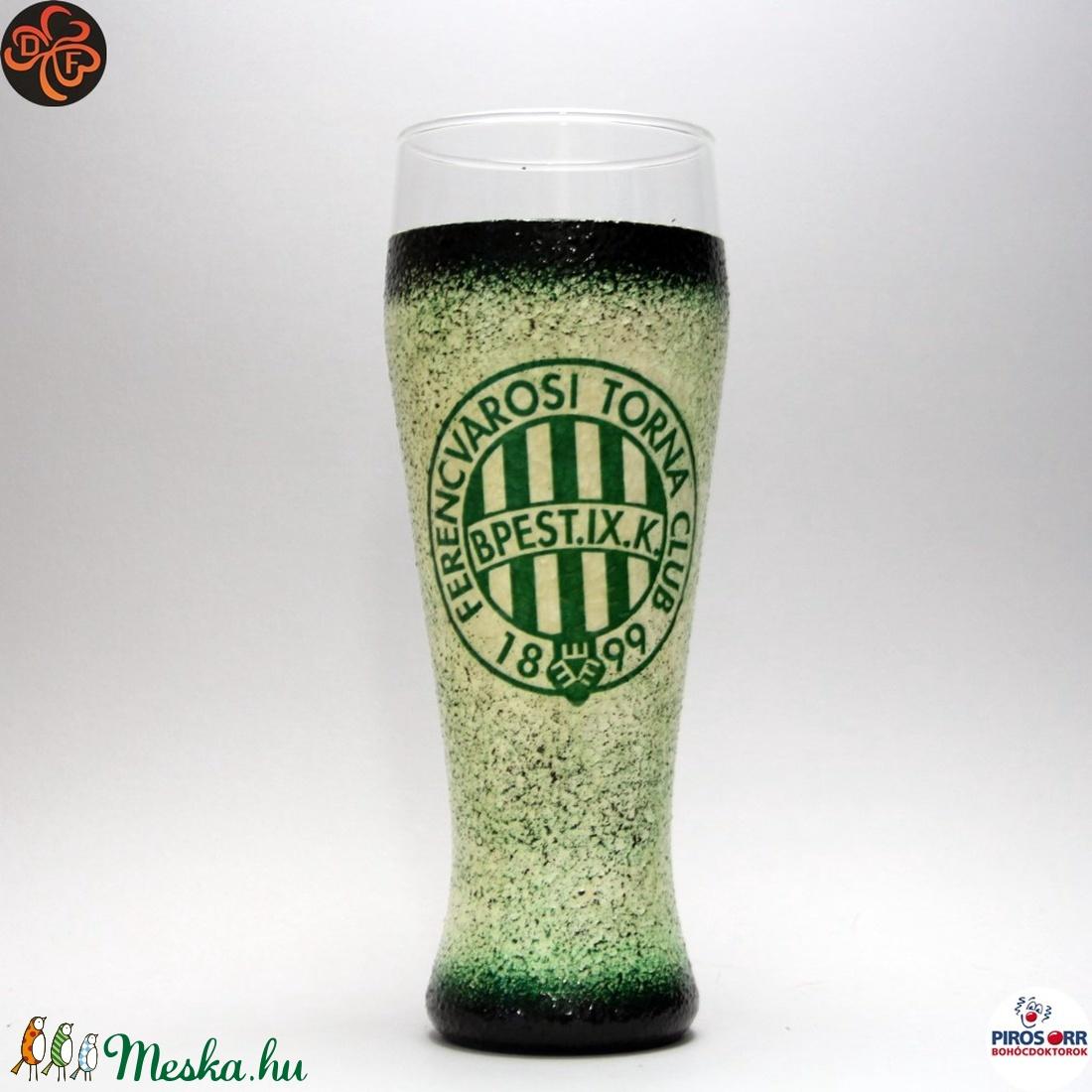 FTC sörös pohár ; FTC foci szurkolóknak (decorfantasy) - Meska.hu