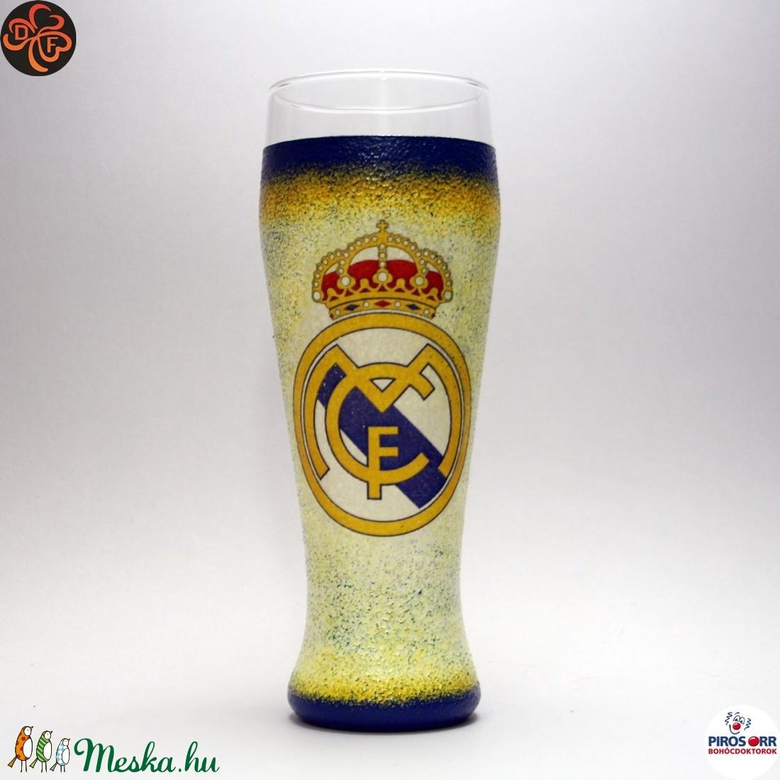 Real Madrid sörös pohár ; foci szurkolóknak (decorfantasy) - Meska.hu