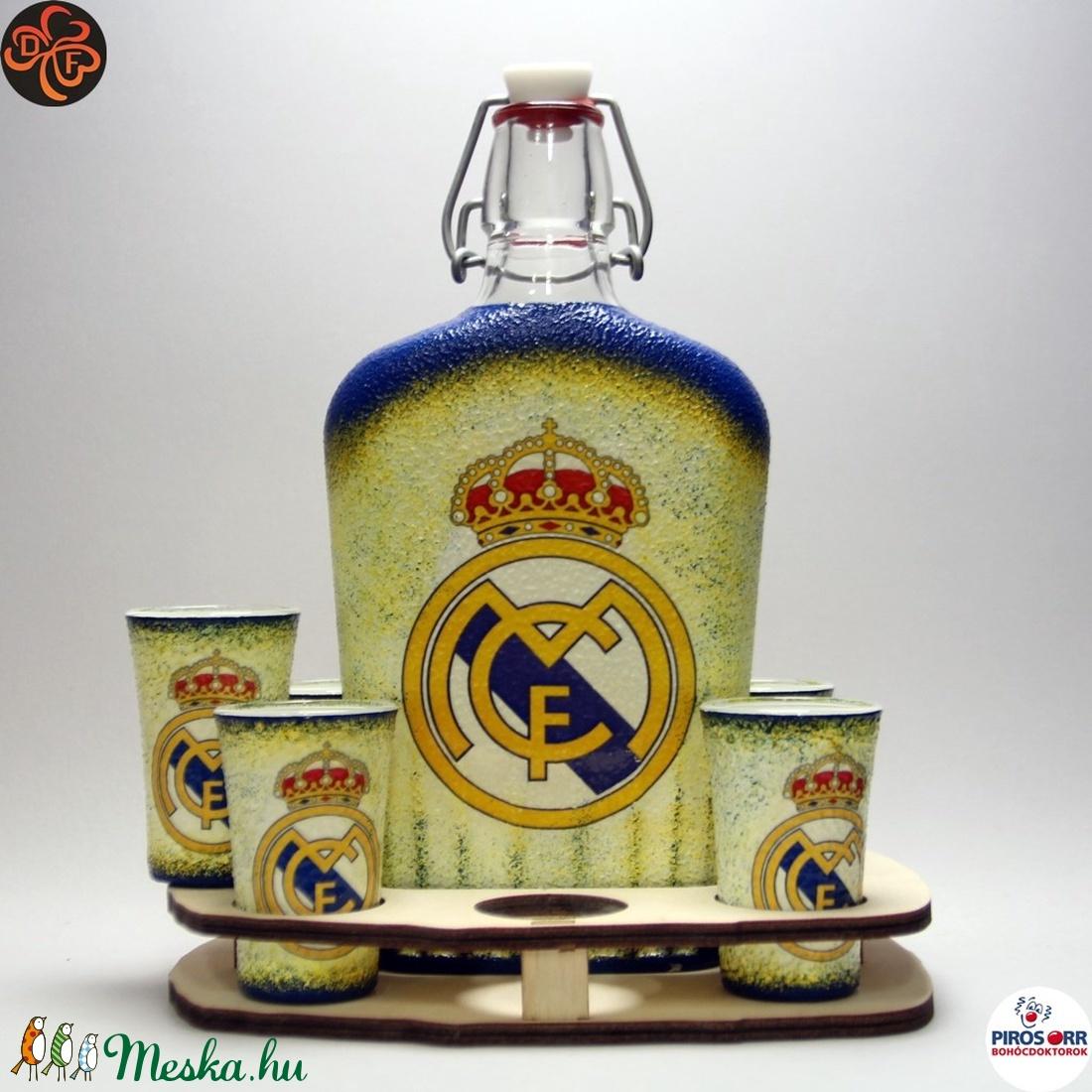 Real Madrid pálinkás kínáló ; foci szurkolóknak (decorfantasy) - Meska.hu