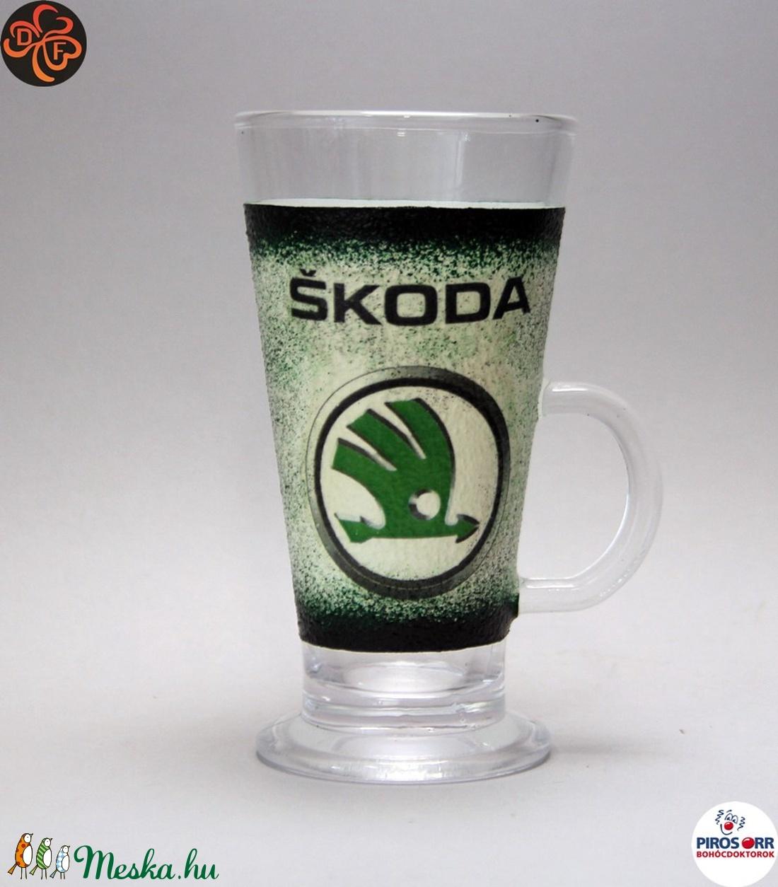 SKODA kávés pohár, kávé imádóknak ; Skoda autód fényképével is! - Meska.hu