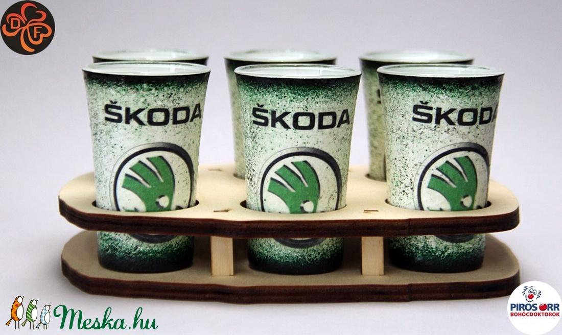 SKODA pohár készlet ; Skoda autód fényképével is! - Meska.hu