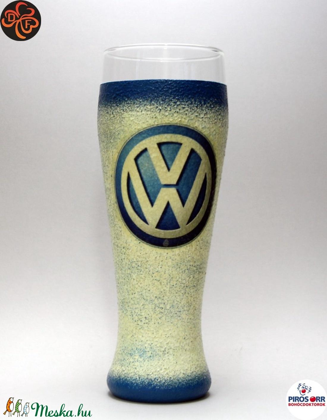 VOLKSWAGEN sörös pohár ; Saját Volkswagen autód fényképével is! - Meska.hu