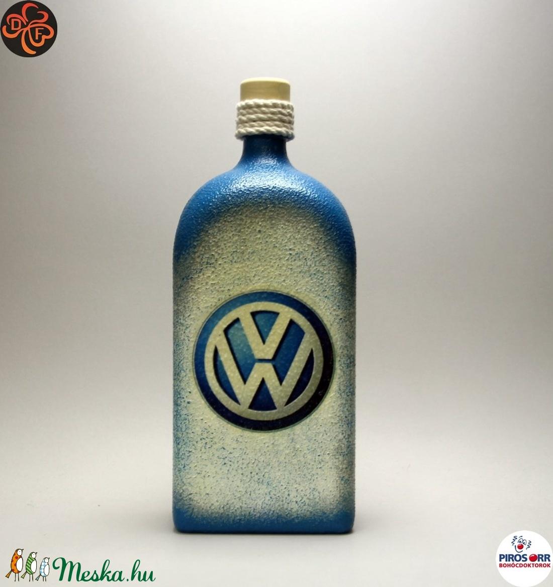 VOLKSWAGEN pálinkás üveg ; Volkswagen autód fényképével is! (decorfantasy) - Meska.hu