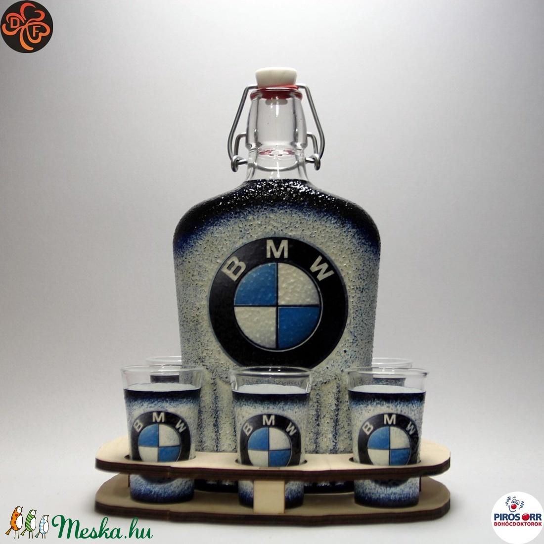 BMW pálinkás kínáló ; BMW rajongóknak (decorfantasy) - Meska.hu