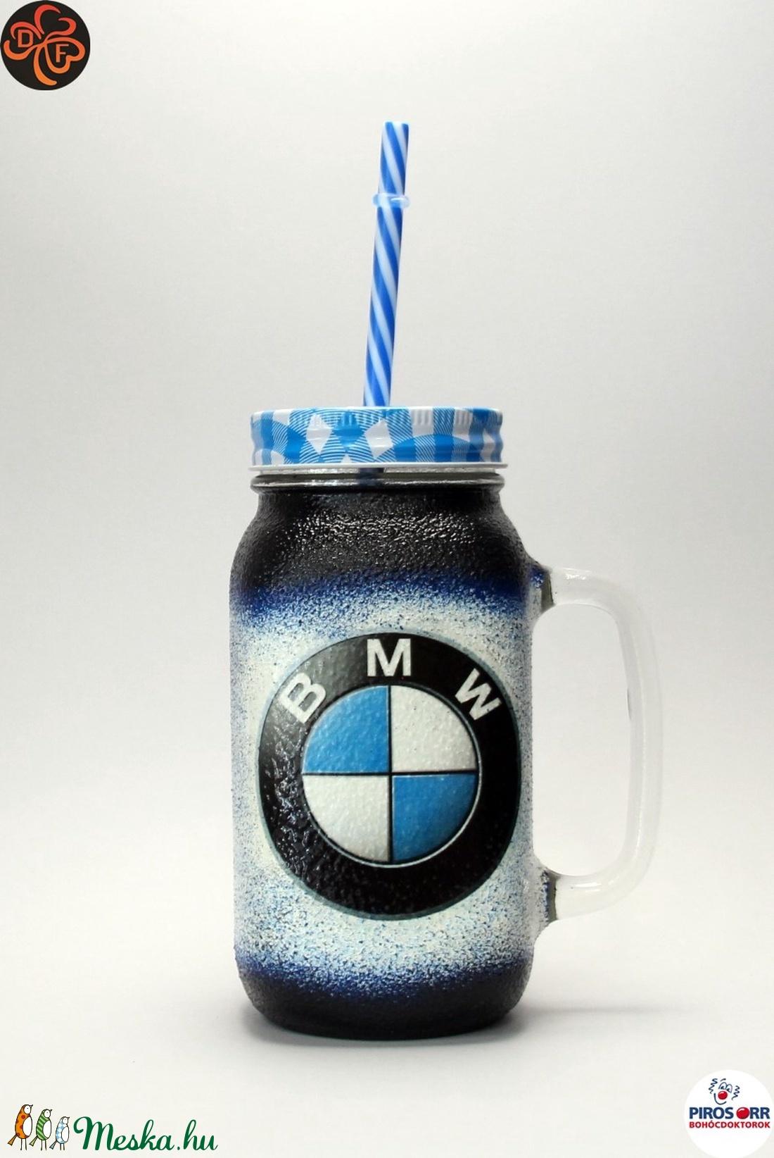 BMW üdítős pohár ; BMW rajongóknak (decorfantasy) - Meska.hu