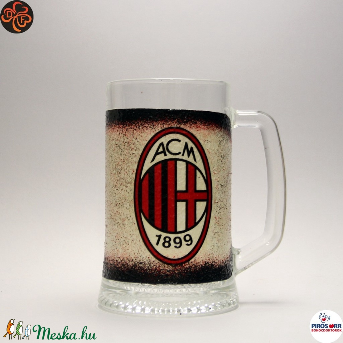 AC MILAN sörös pohár ; foci szurkolóknak (decorfantasy) - Meska.hu