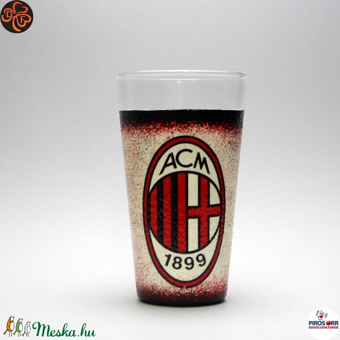 AC MILAN vizes, üdítős pohár ; foci szurkolóknak (decorfantasy) - Meska.hu