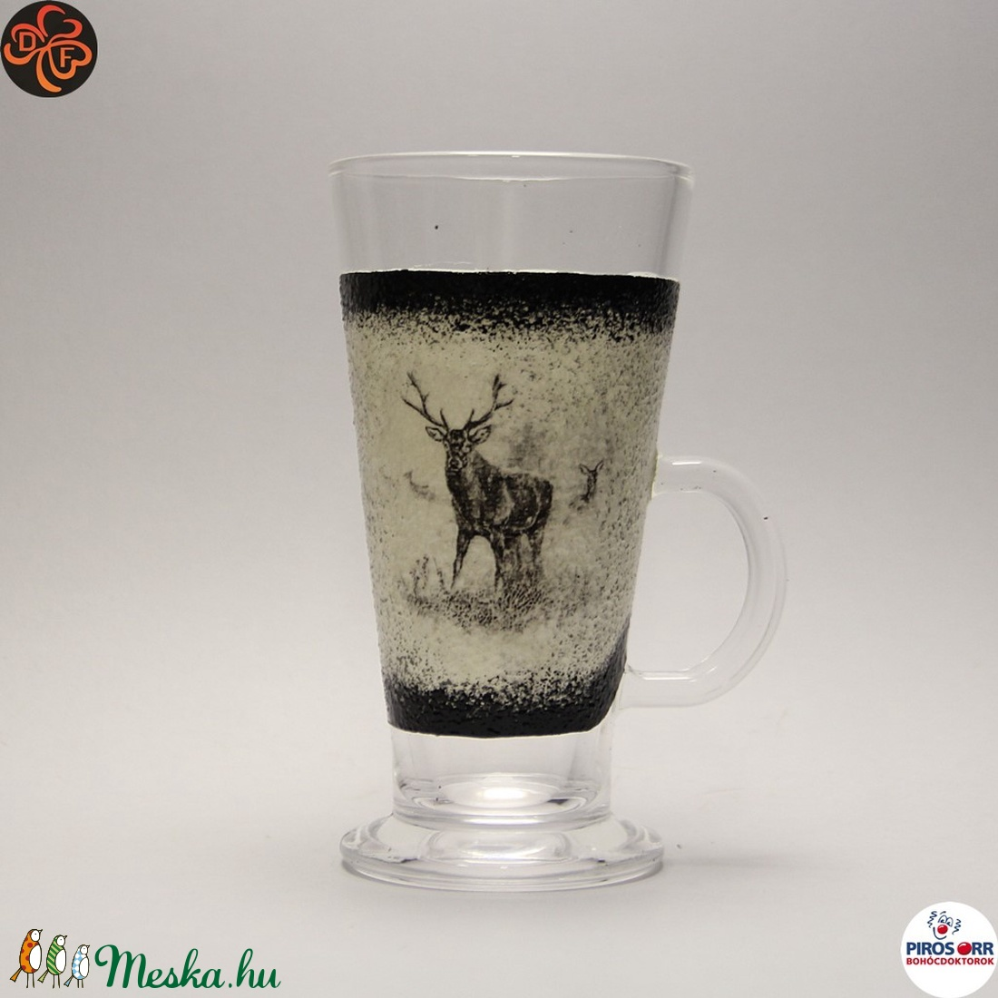Vadász - szarvas képpel - kávés pohár ; A vadászat szerelmeseinek  (decorfantasy) - Meska.hu