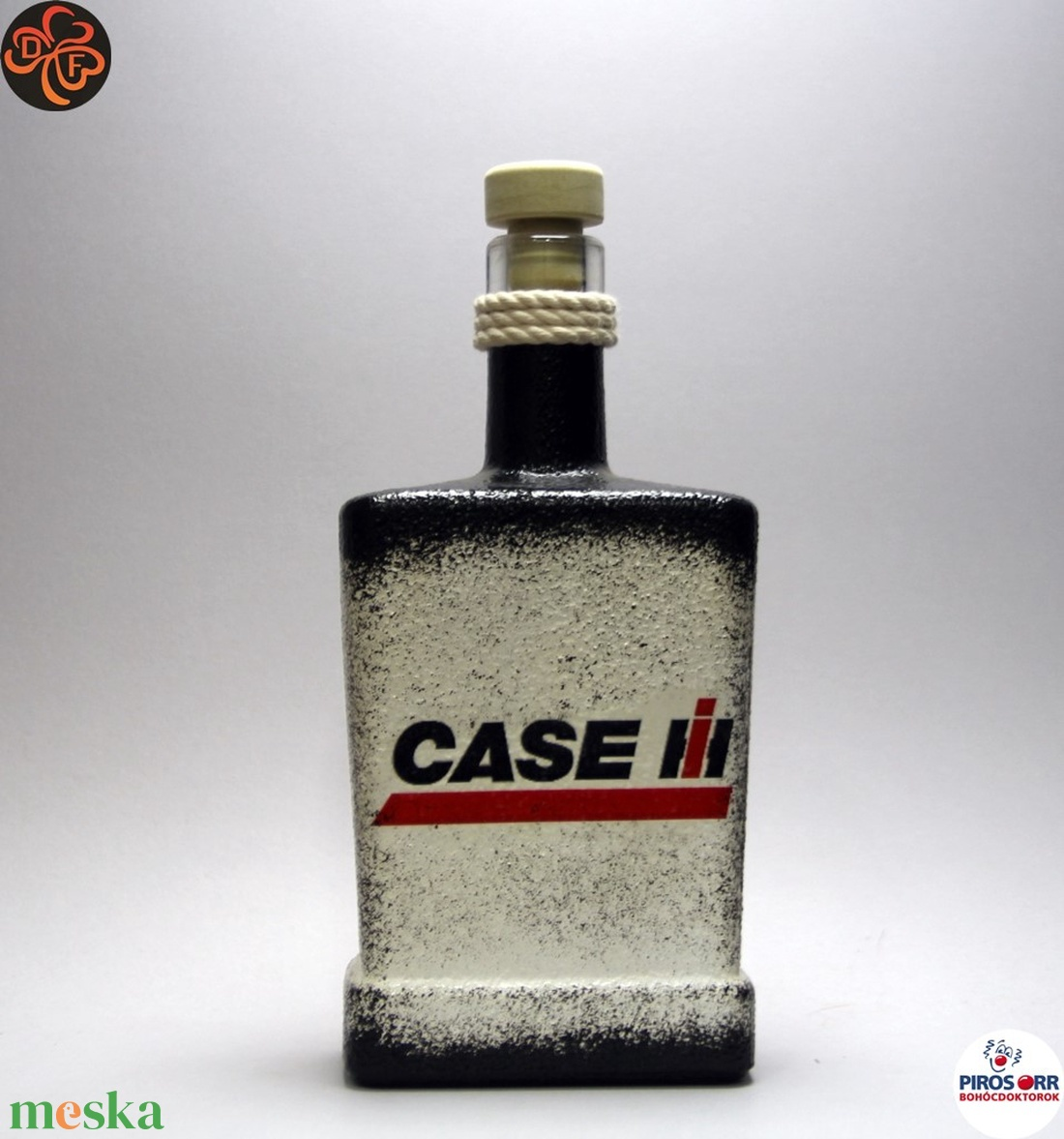 CASE IH Traktor italos üveg ; Saját traktorod fényképével is! (decorfantasy) - Meska.hu