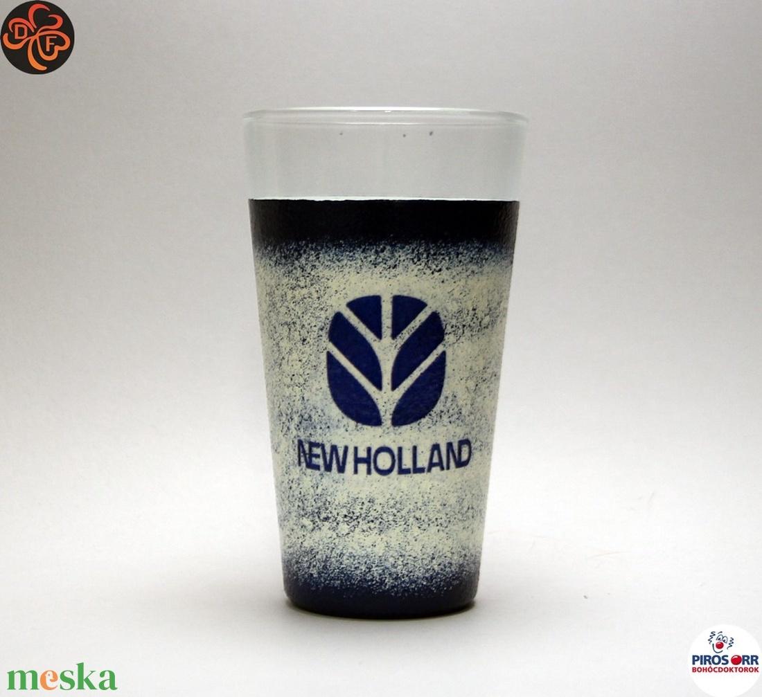 New Holland Traktor vizes pohár ; Saját traktorod fényképével is! (decorfantasy) - Meska.hu