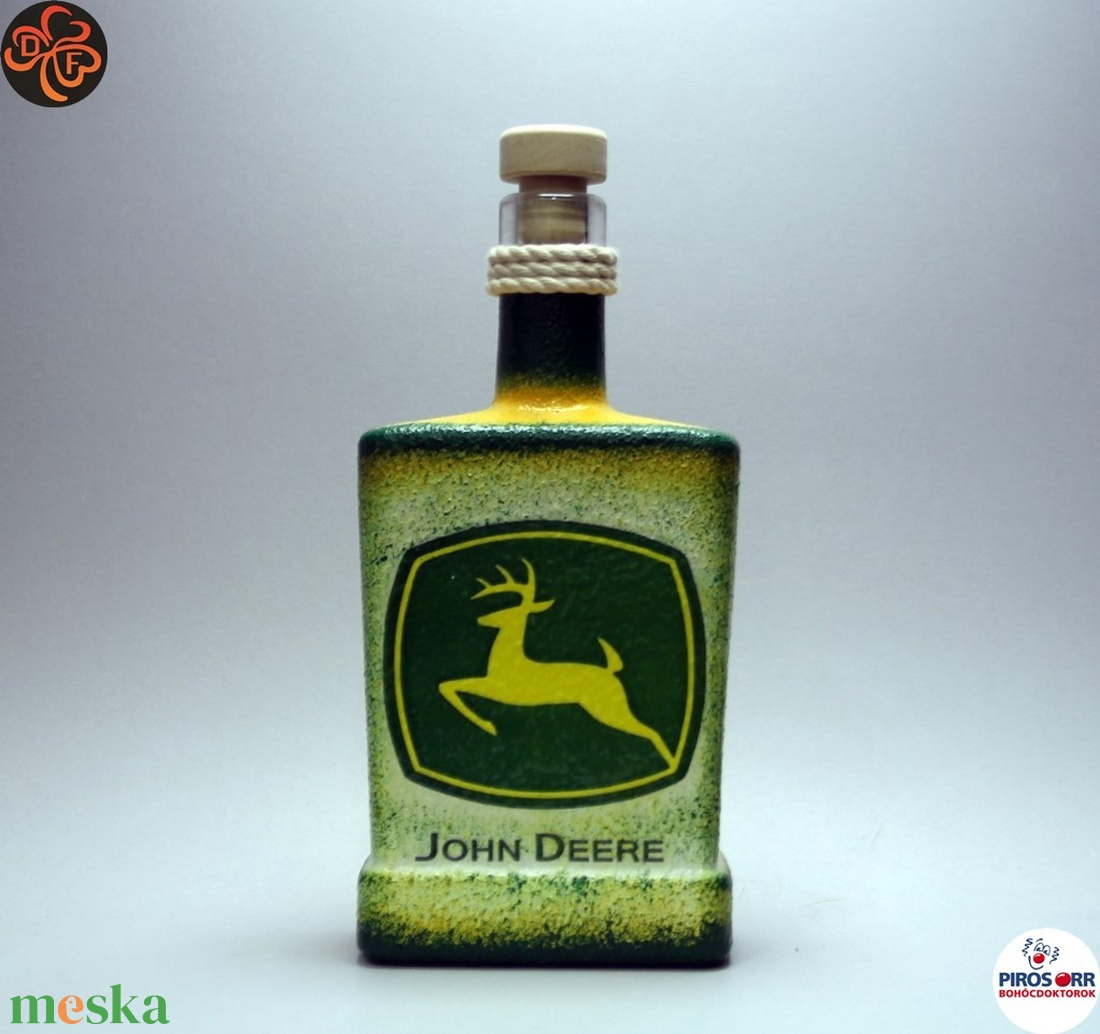 John Deere Traktor italos üveg ; Saját traktorod fényképével is! (decorfantasy) - Meska.hu