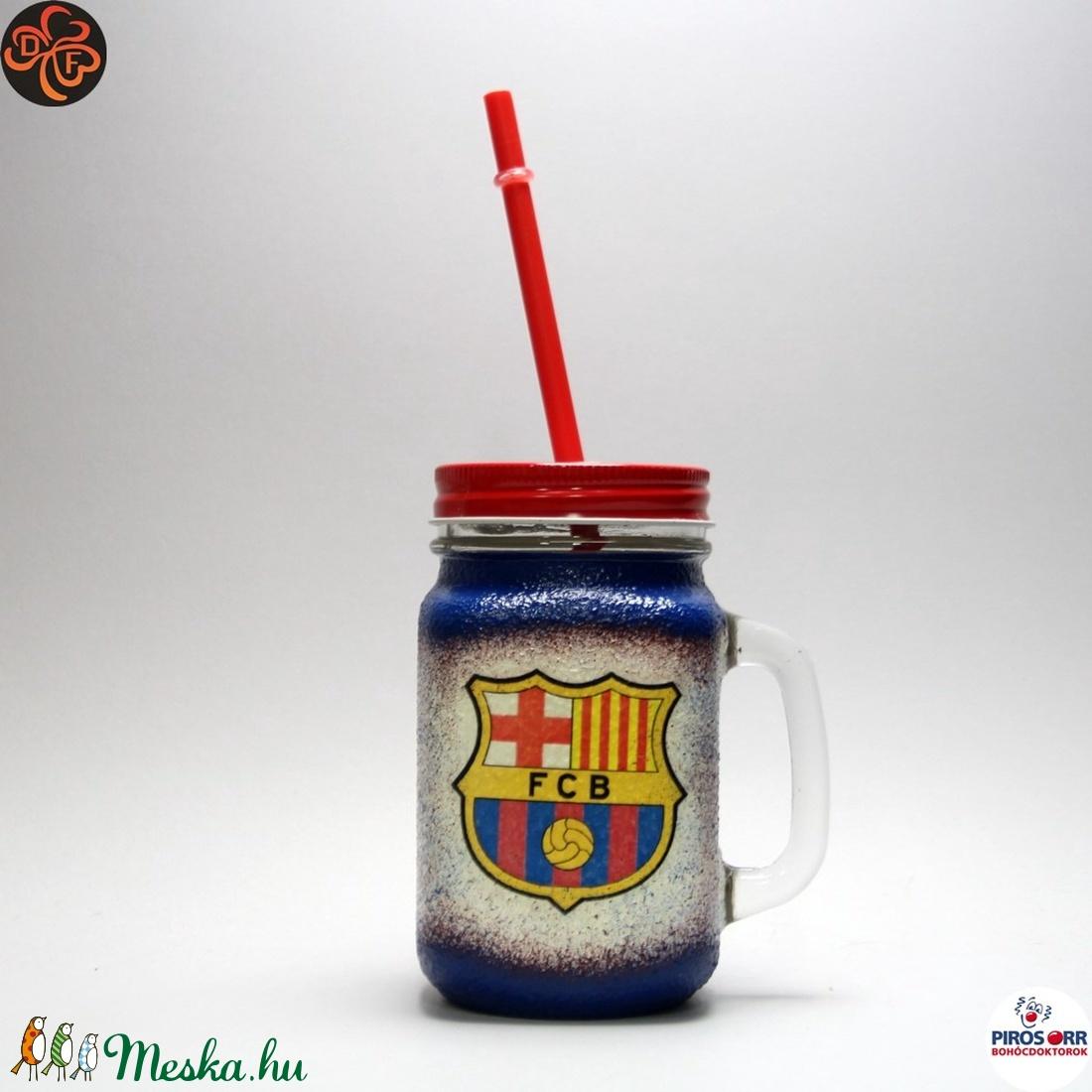 FC Barcelona szívószálas bögre ; foci szurkoló fiúknak, gyerekeknek (decorfantasy) - Meska.hu
