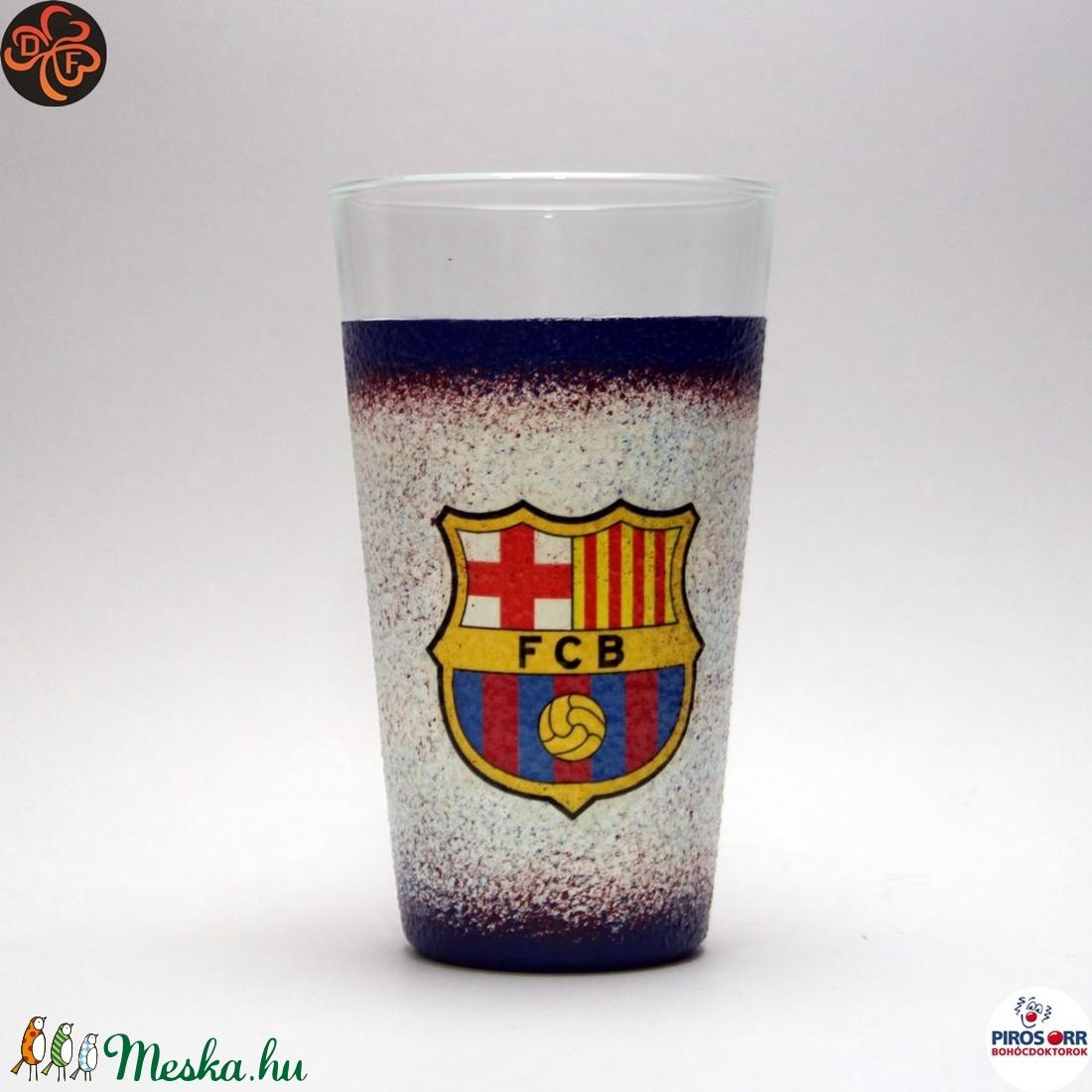 FC Barcelona üdítős pohár ; foci szurkoló fiúknak, gyerekeknek (decorfantasy) - Meska.hu