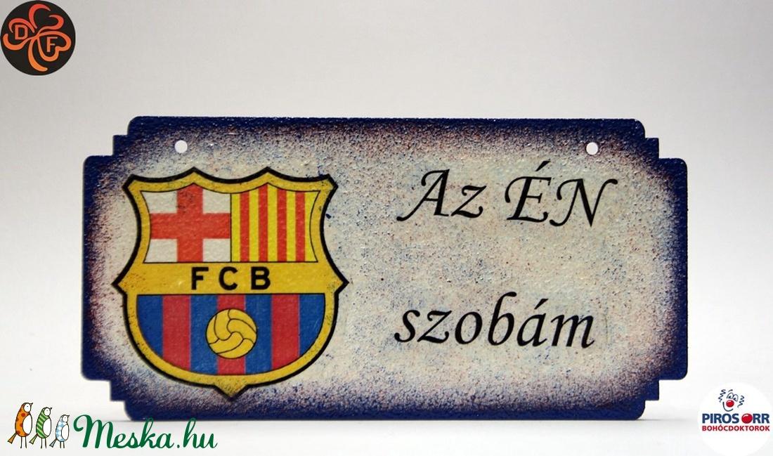 FC Barcelona fatábla ; foci szurkoló fiúknak, gyerekeknek (decorfantasy) - Meska.hu