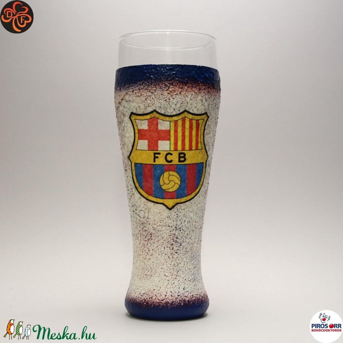 FC Barcelona sörös pohár ; foci szurkolóknak (decorfantasy) - Meska.hu