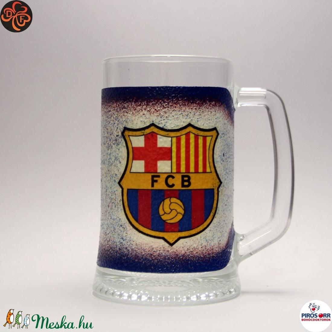 FC Barcelona sörös korsó ; foci szurkolóknak (decorfantasy) - Meska.hu
