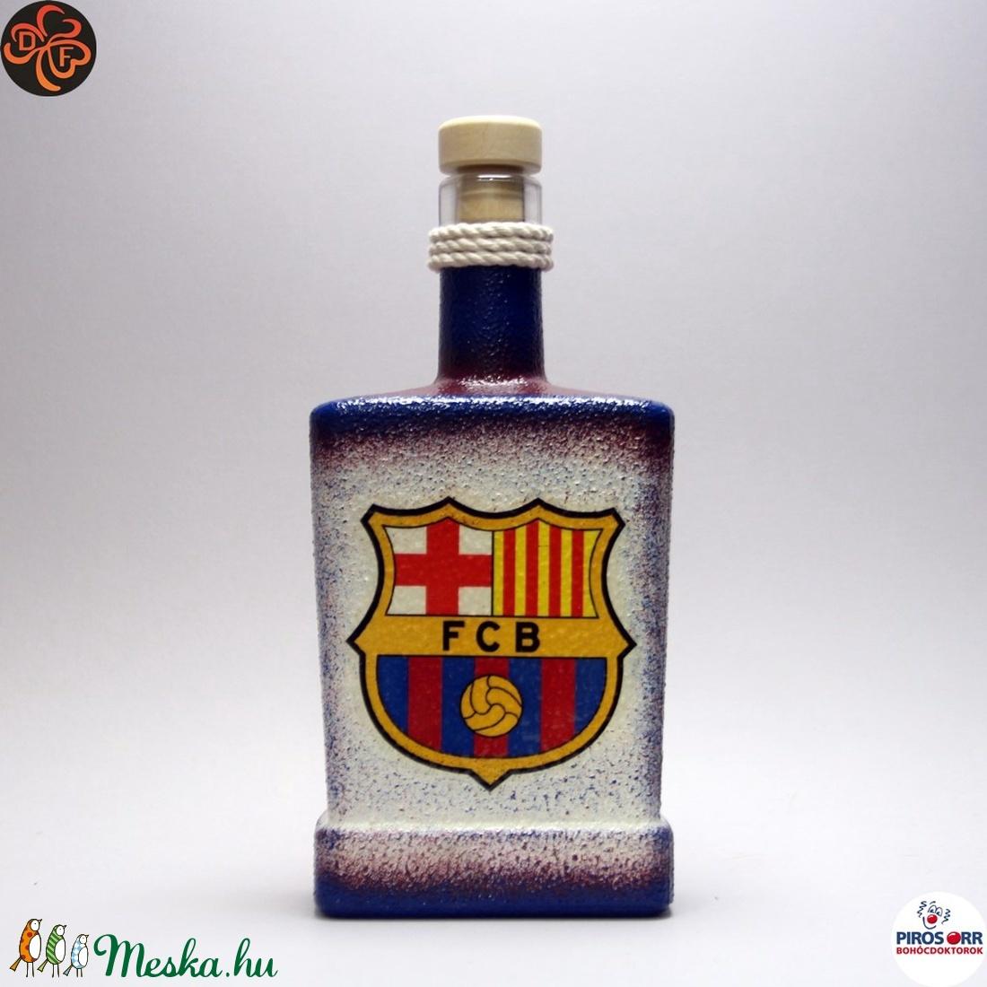 FC Barcelona italos üveg ; futball szurkolóknak (decorfantasy) - Meska.hu