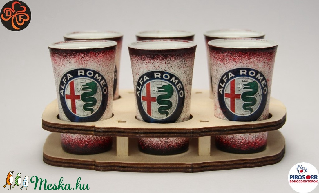 Alfa Romeo pohár szett; A saját Alfa autód fotójával is!  (decorfantasy) - Meska.hu