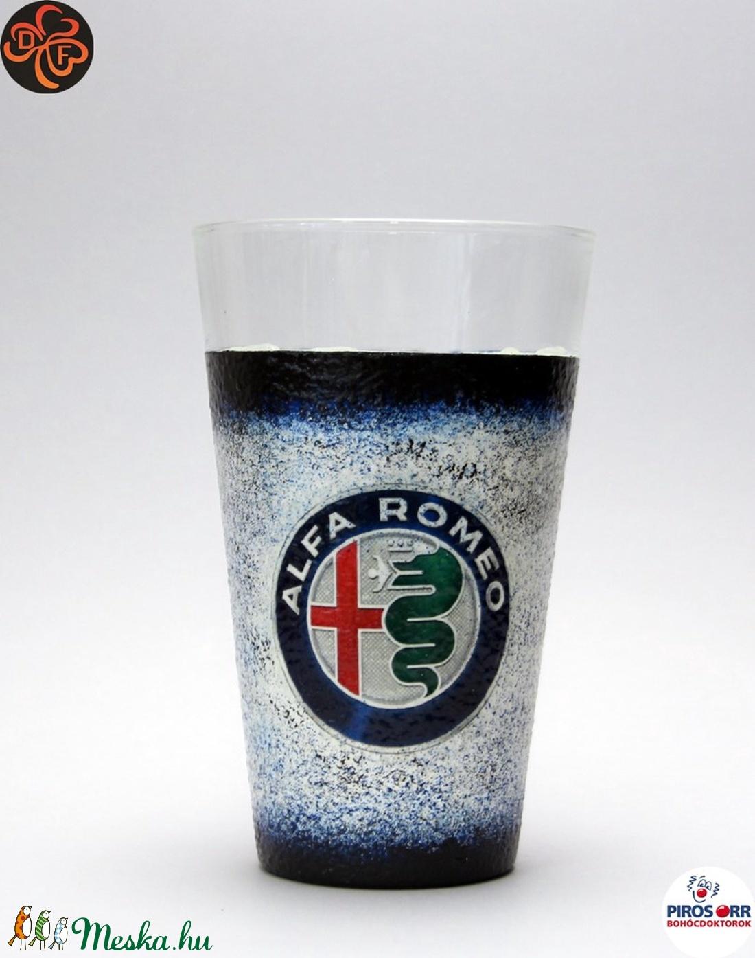Alfa Romeo üdítős pohár; A saját Alfa autód fotójával is!  (decorfantasy) - Meska.hu