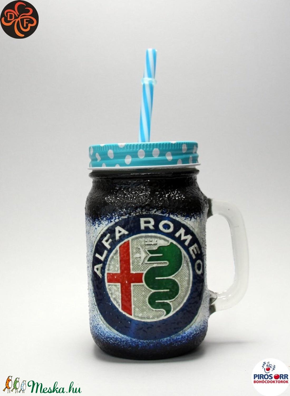 Alfa Romeo szívószálas pohár ; A saját Alfa autód fotójával is!  (decorfantasy) - Meska.hu