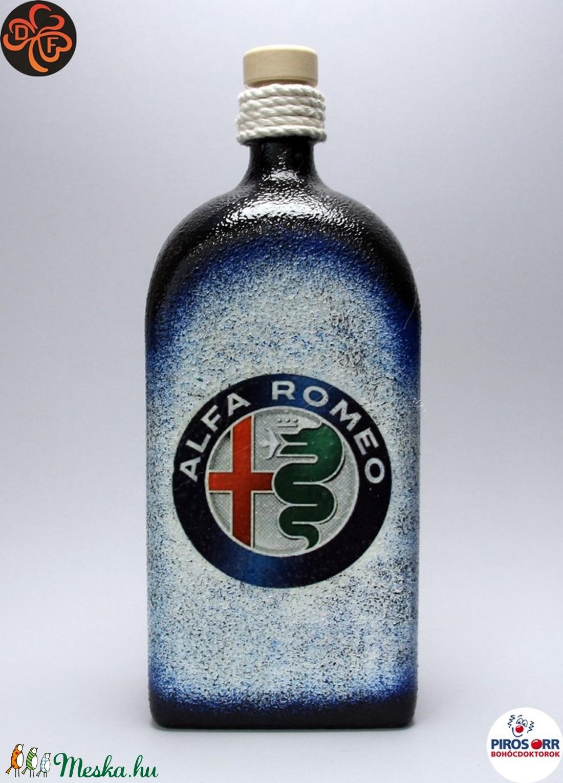 Alfa Romeo pálinkás üveg ; A saját Alfa autód fotójával is!  (decorfantasy) - Meska.hu
