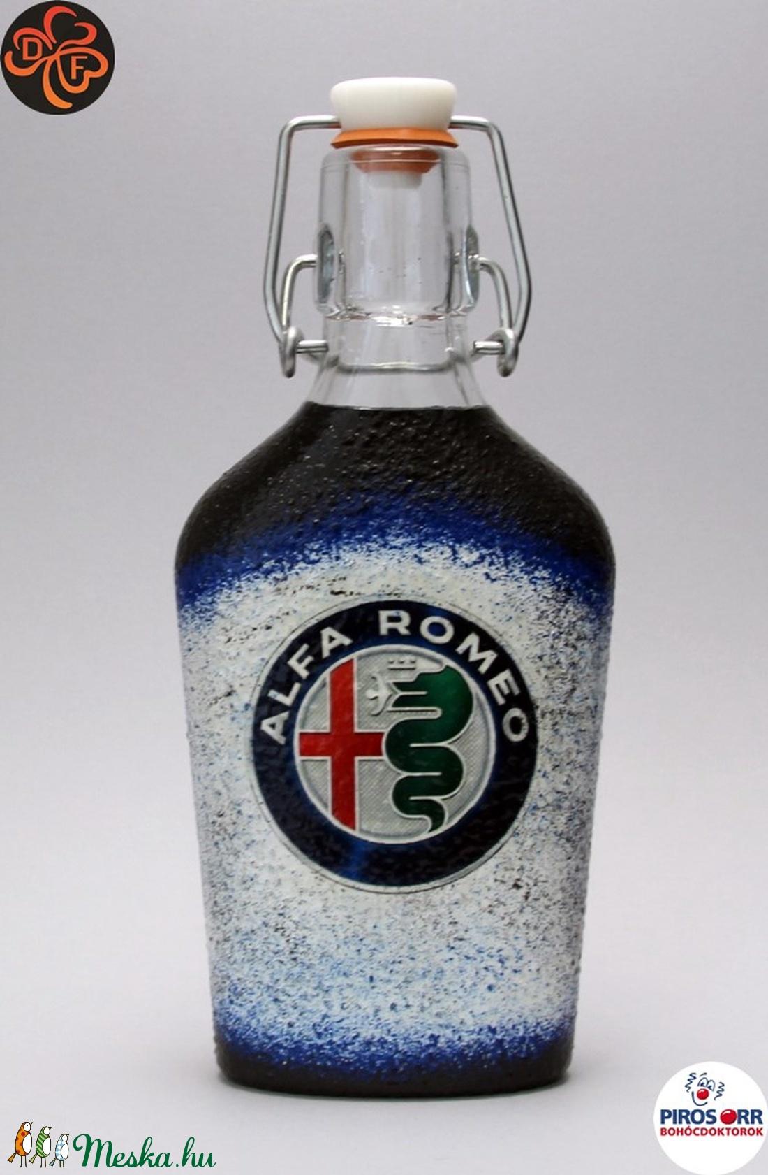 Alfa Romeo csatosüveg ; A saját Alfa autód fotójával is!  (decorfantasy) - Meska.hu