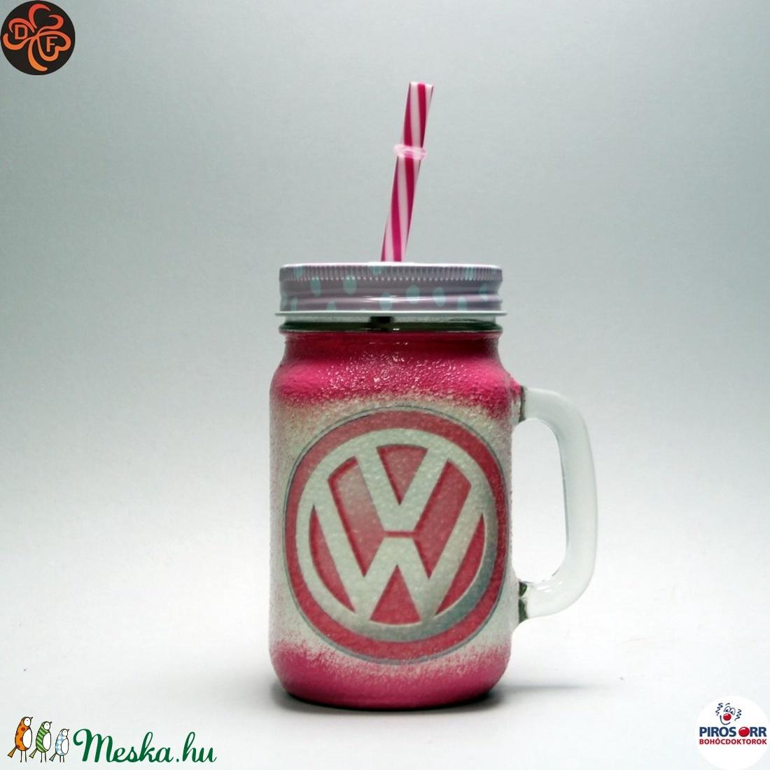 VOLKSWAGEN üdítős pohár ; Volkswagen autód fényképével is! - Meska.hu