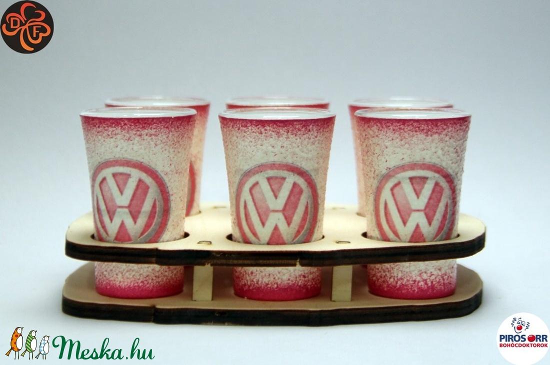 VOLKSWAGEN pohár készlet ; Volkswagen autód fényképével is! - Meska.hu