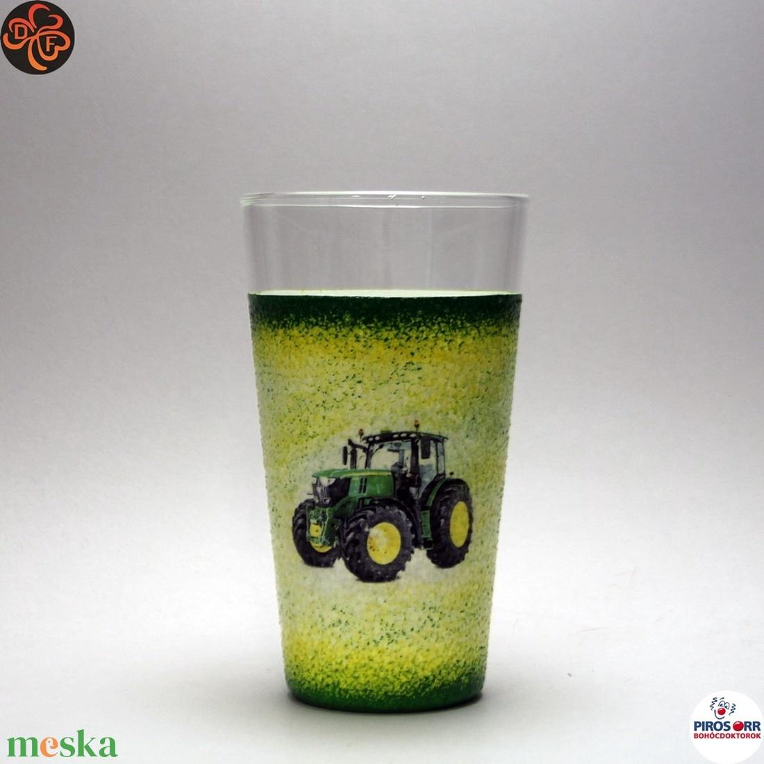 Gazda uram vizes pohár ; Saját John Deere traktorod fényképével is! - Meska.hu