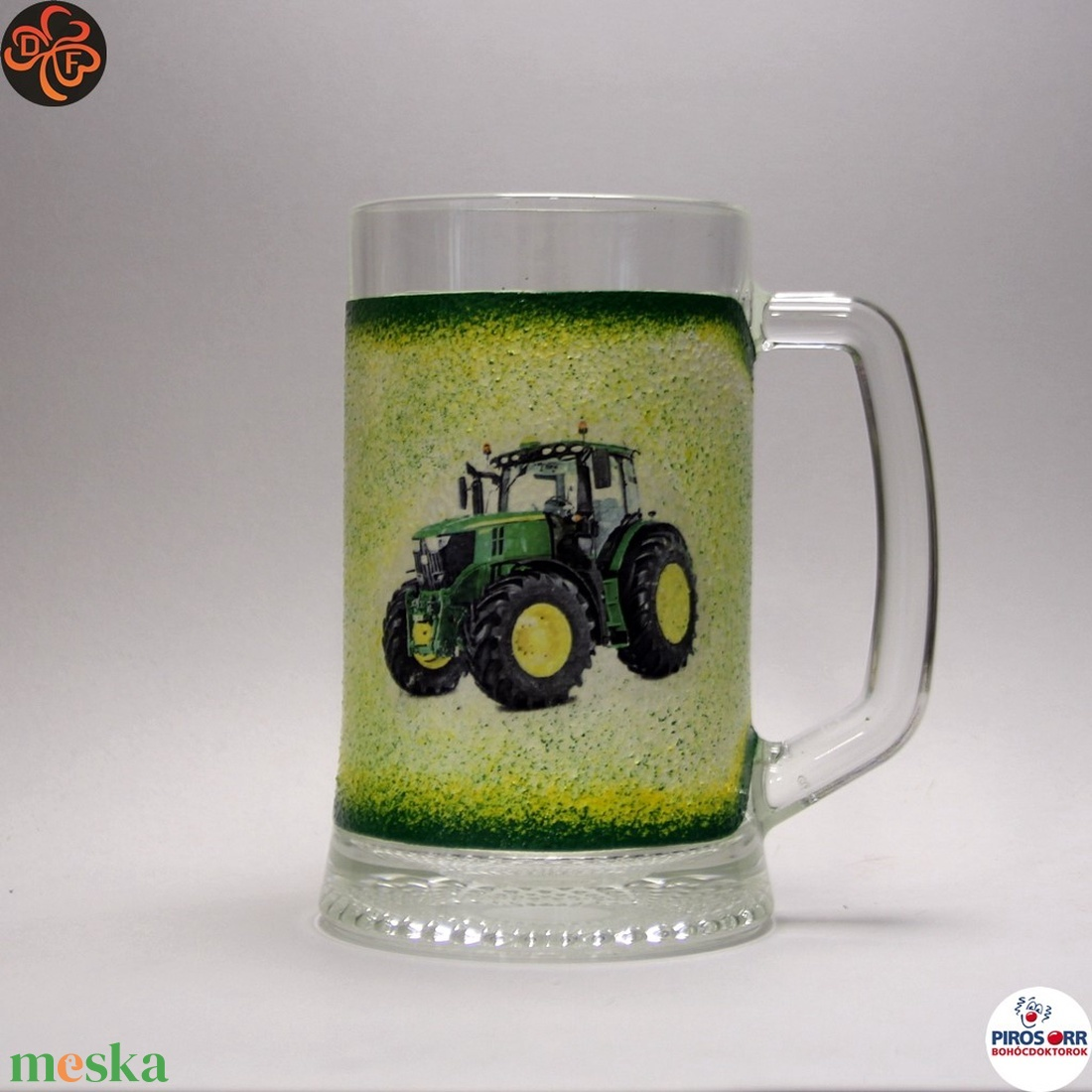 Gazda sörös korsója ; John Deere Traktor  ; Saját traktorod fényképével is! (decorfantasy) - Meska.hu