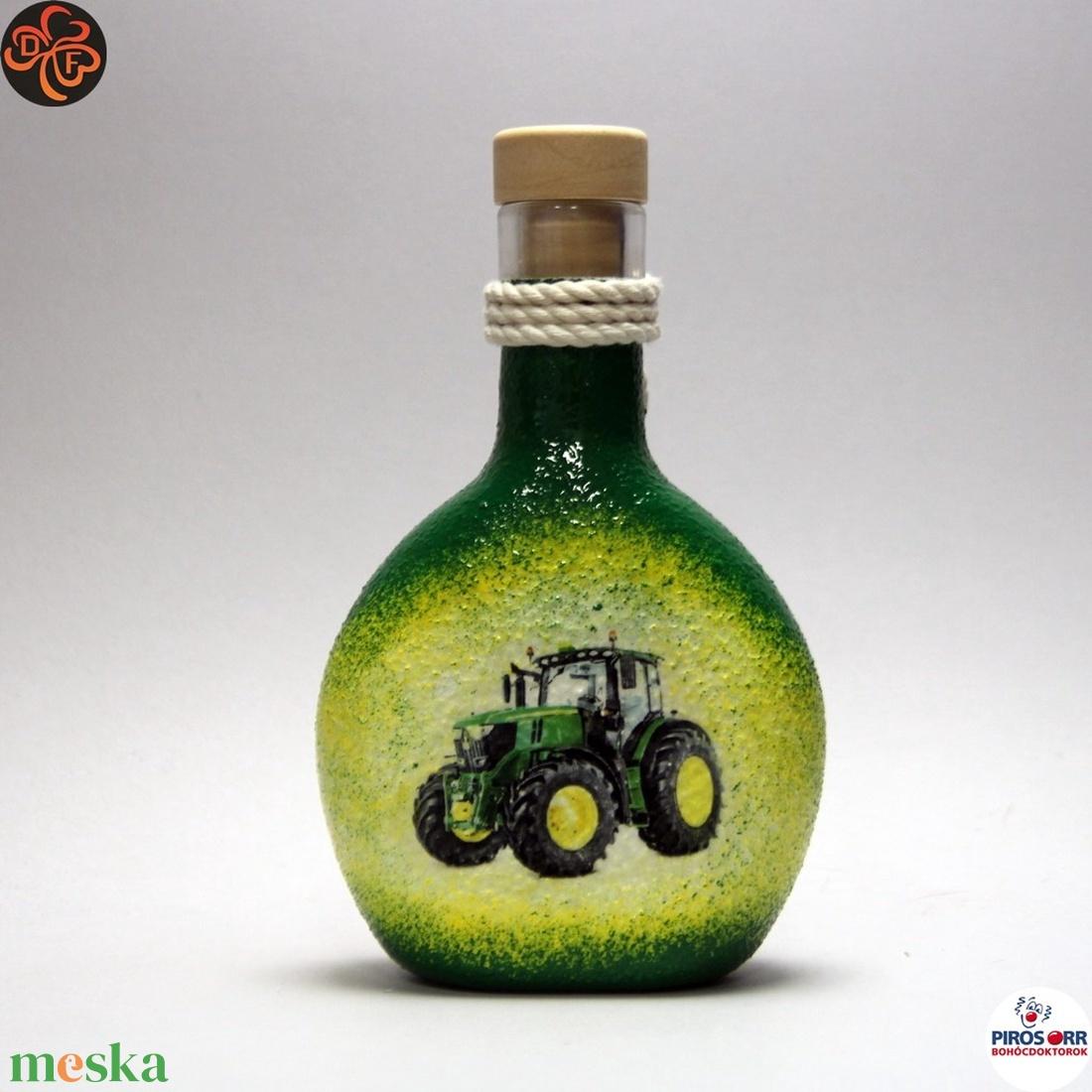 Gazda uram pálinkás flaskája ; Saját John Deere Traktorod fényképével is!  - otthon & lakás - konyhafelszerelés - pohár - Meska.hu